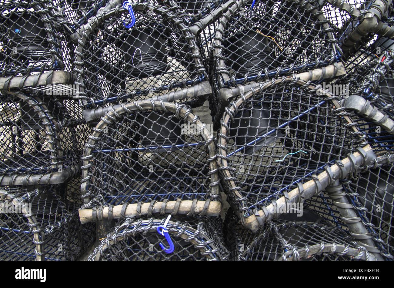 Lobster bakets - Stock Image