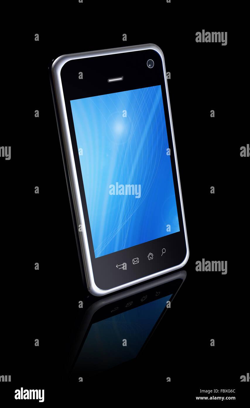 Smartphone Touchscreen - Stock Image
