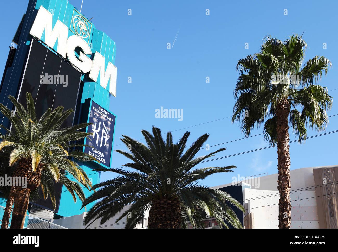 mgm casino sign - Stock Image