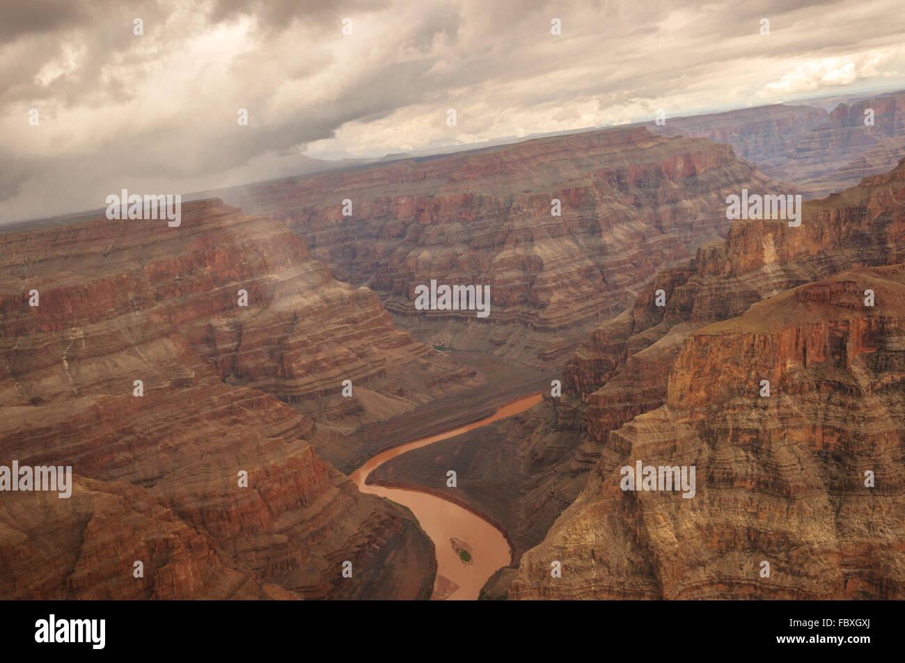 Grand Canyon Heli shooting - Stock Image