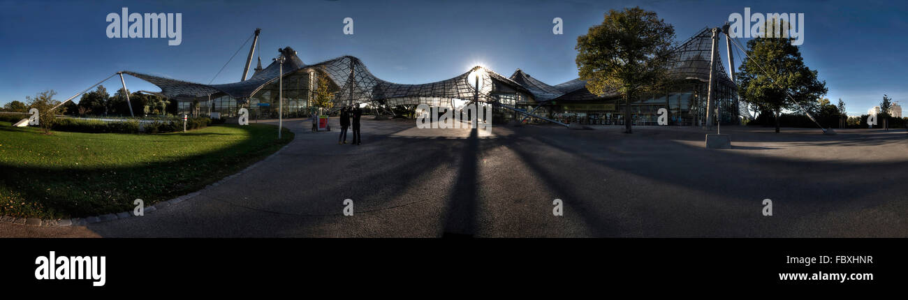 Olympic Stadion Munich, Panorama - Stock Image