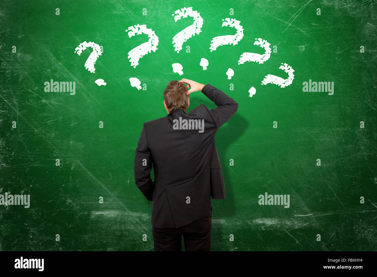 Many questions Stock Photo