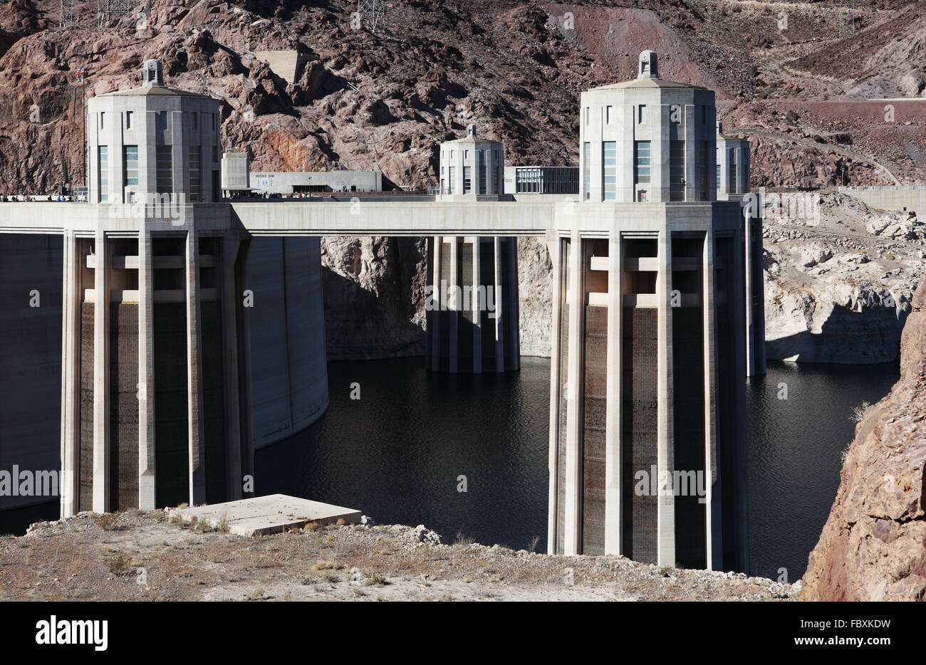 hoover dam - Stock Image