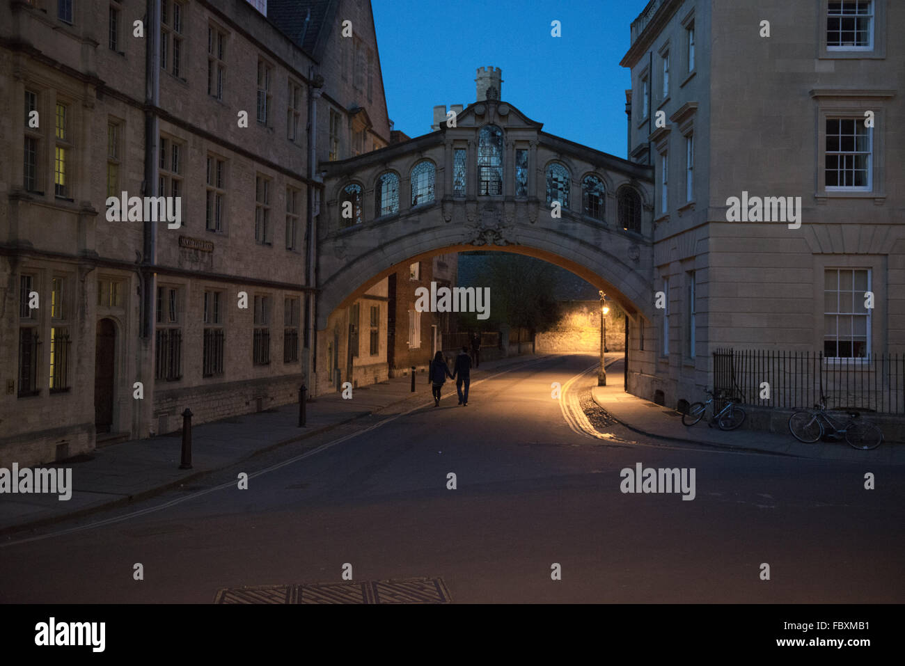 Bridge of Seighs in Oxford - Stock Image