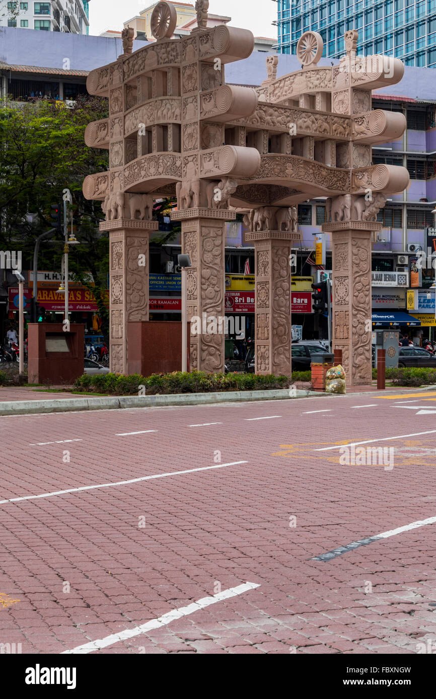 Torana Gate Built Has A Symbol Of Indian Malaysian Friendship In