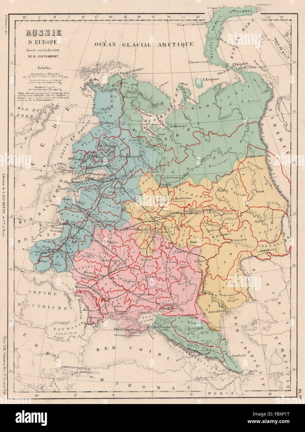 European Russia Showing Railways Oblasts Russia In Europe 1880