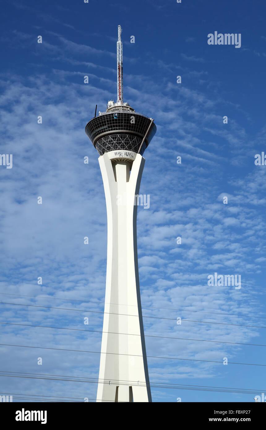 stratosphere tower las vegas - Stock Image