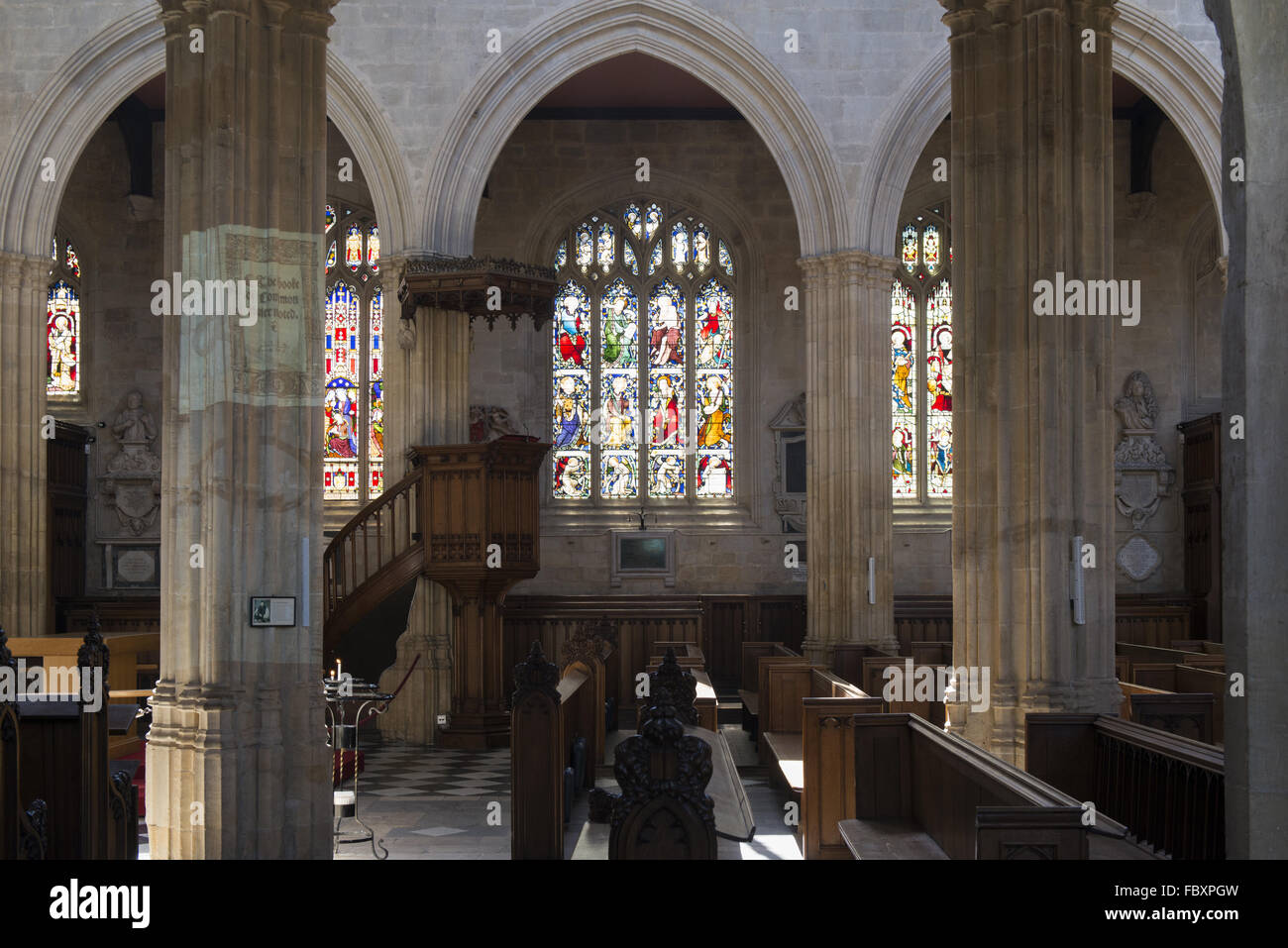 University Church of St. Mary in Oxford - Stock Image