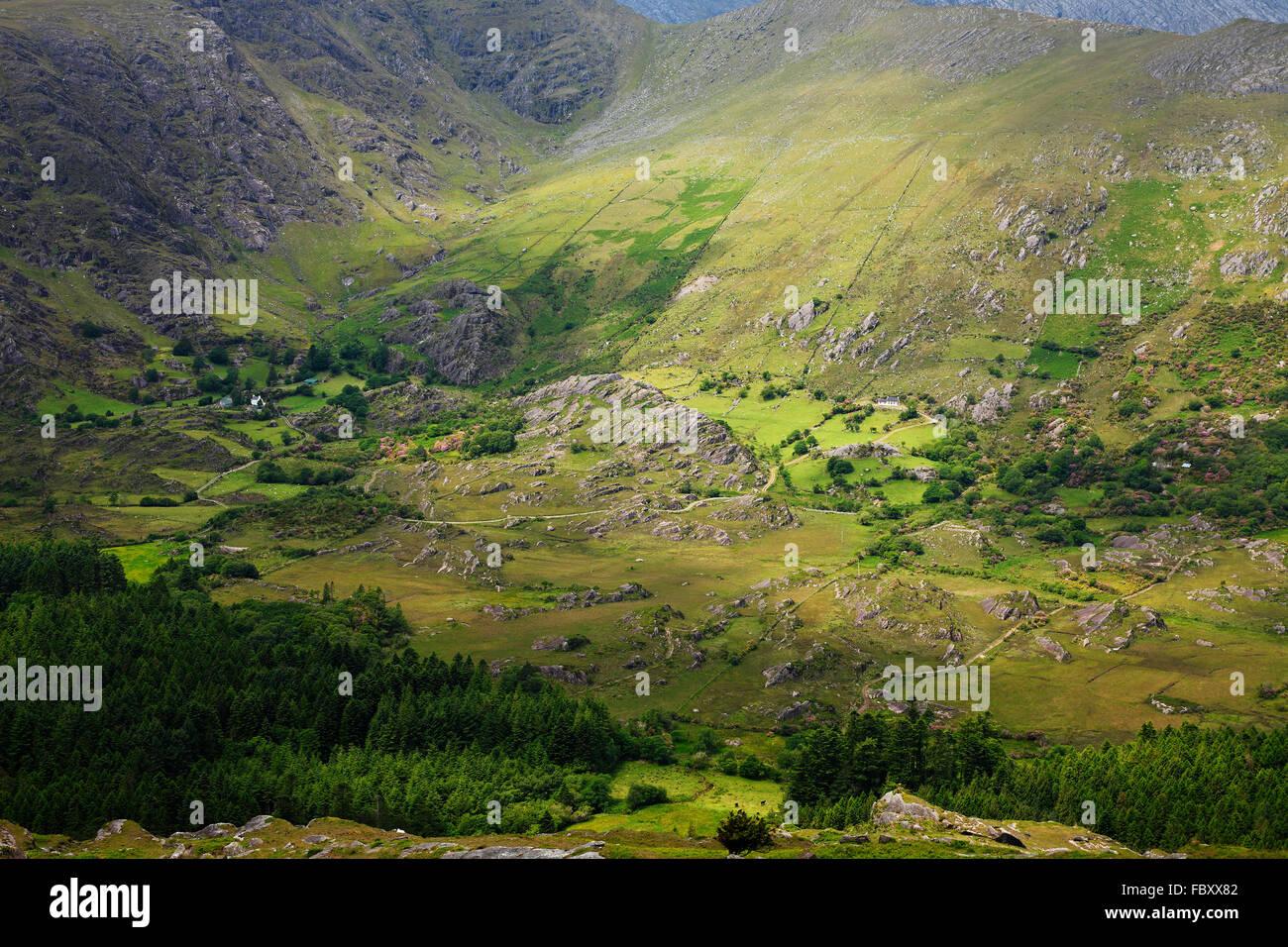 Healy Pass on peninsula Beara, Co. Kerry, Ireland - Stock Image