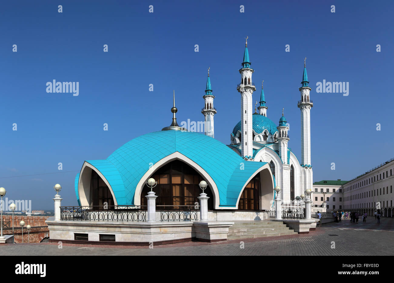 kul sharif mosque in kazan - Stock Image
