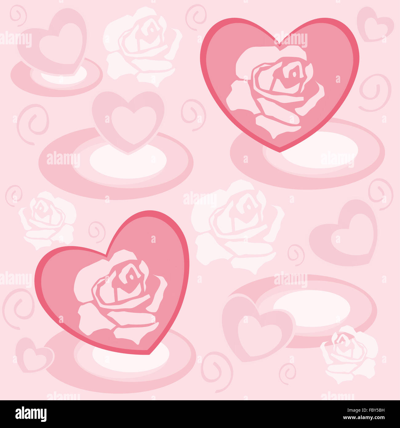 Heart with rose petals Stock Photo