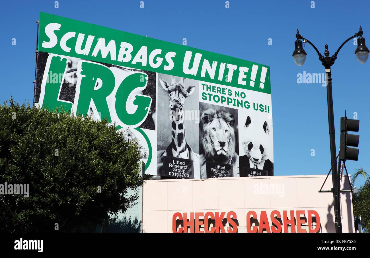 scumbags unite sign - Stock Image