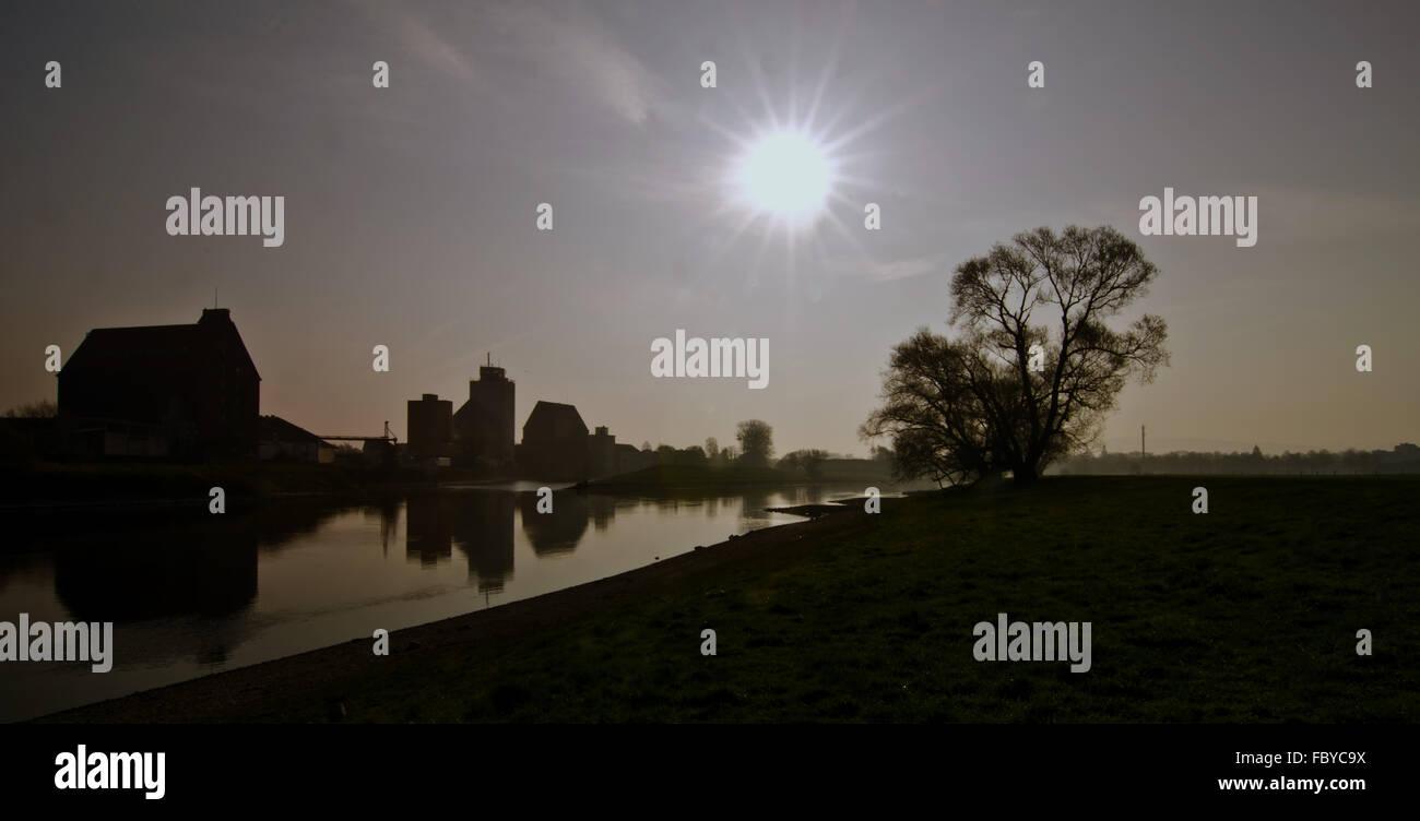 Weser River Stock Photo