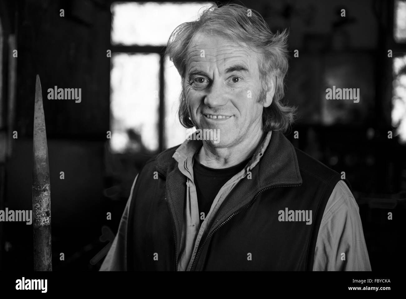 Portrait of a Blacksmith - Stock Image