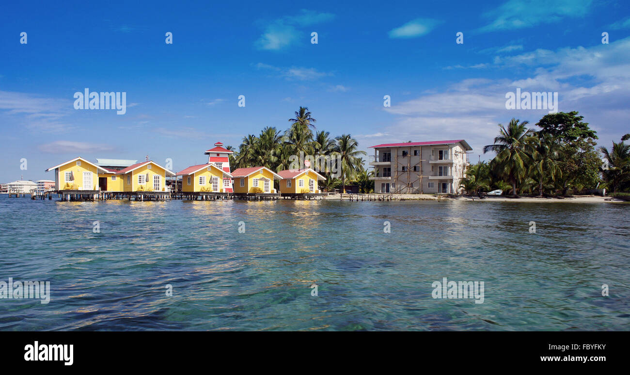 huts at the sea - Stock Image