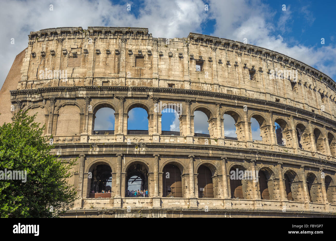Colosseum (Coliseum), major tourist attraction in Rome, Italy - Stock Image