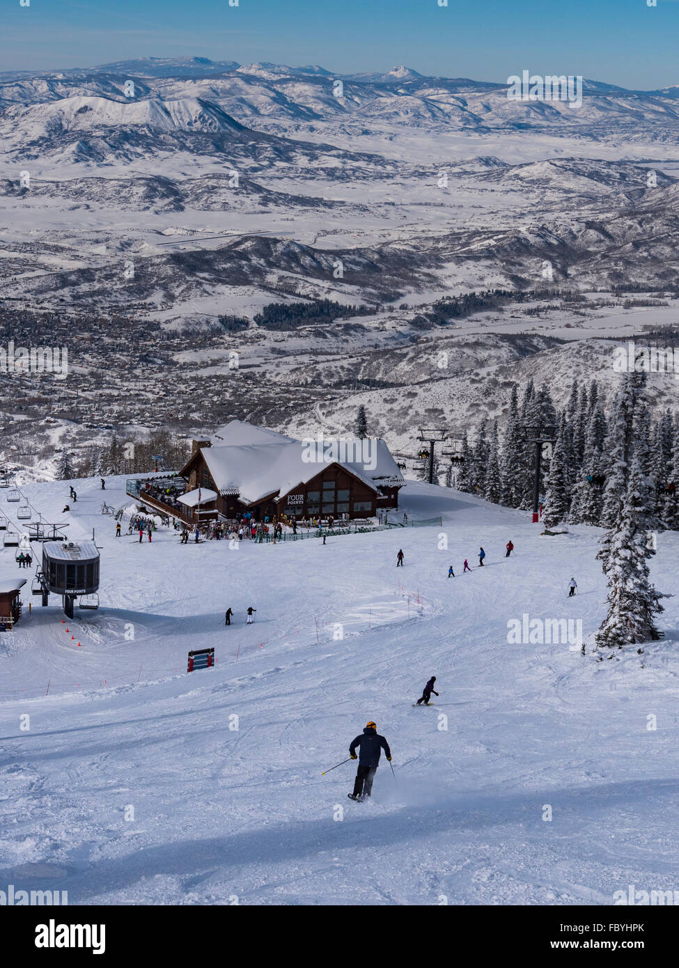 Four Points Lodge, Steamboat Ski Resort, Steamboat Springs, Colorado. - Stock Image