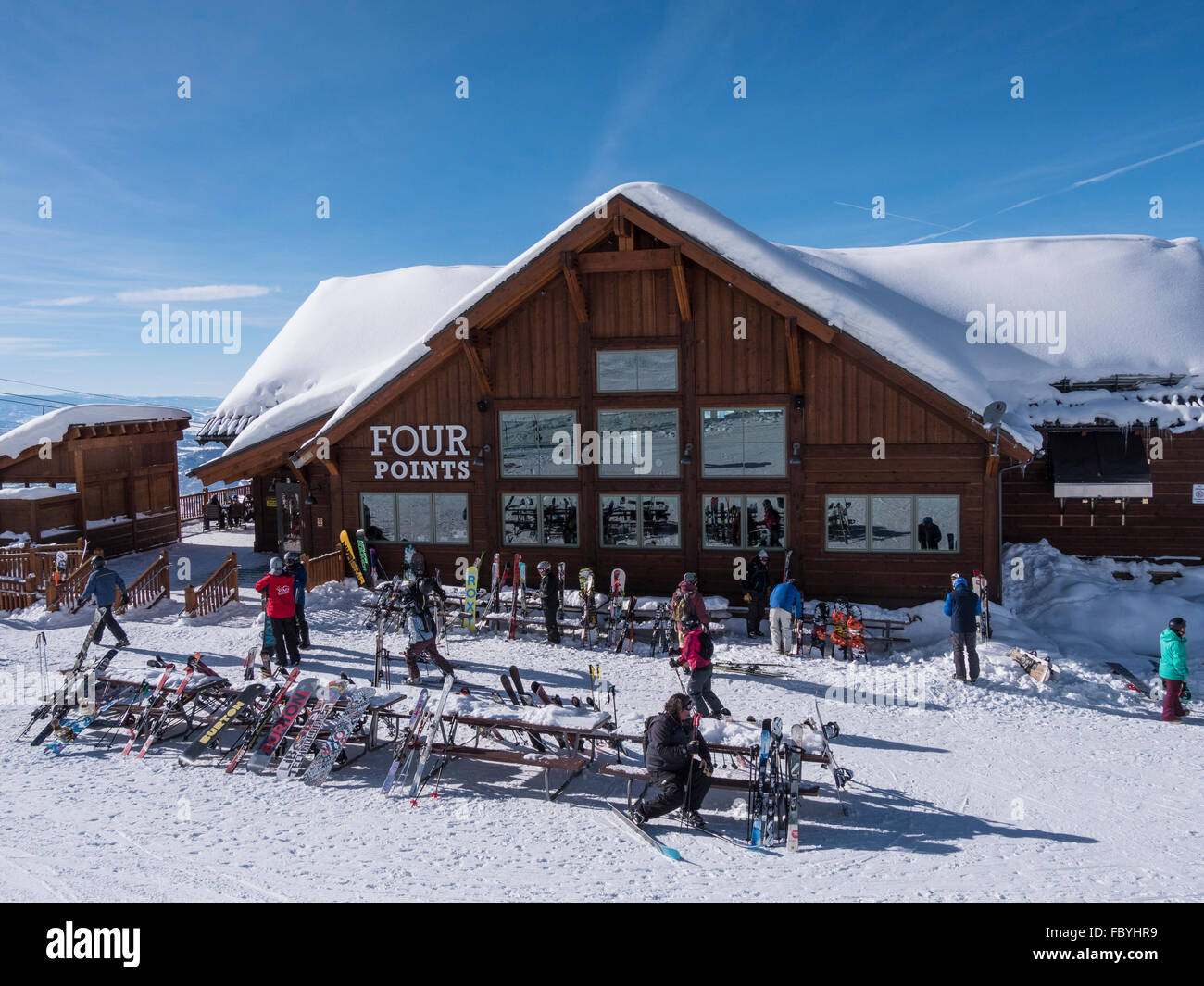 Four Points Lodge, Steamboat Ski Area, Steambaot Springs, Colorado. - Stock Image
