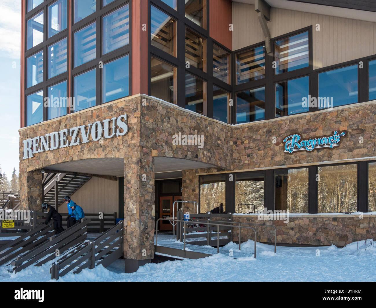 Rendezvous Saddle Lodge, Steamboat Ski Resort, Steamboat Springs, Colorado. - Stock Image