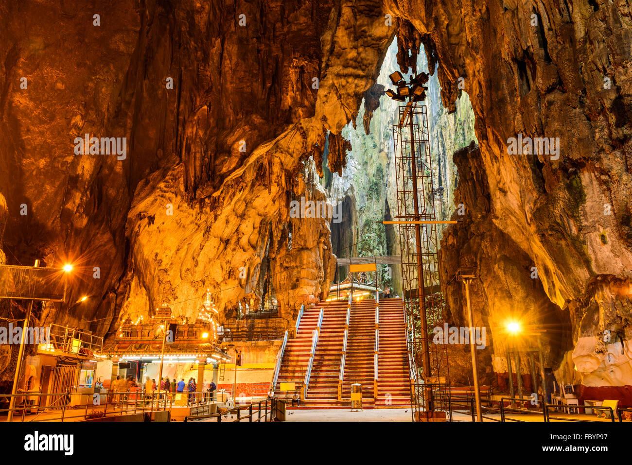 Batu Caves Hindu Shrine near Kuala Lumpur, Malaysia. - Stock Image
