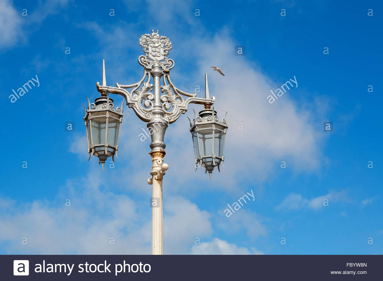 Old street lamp. Brighton, England - Stock Image