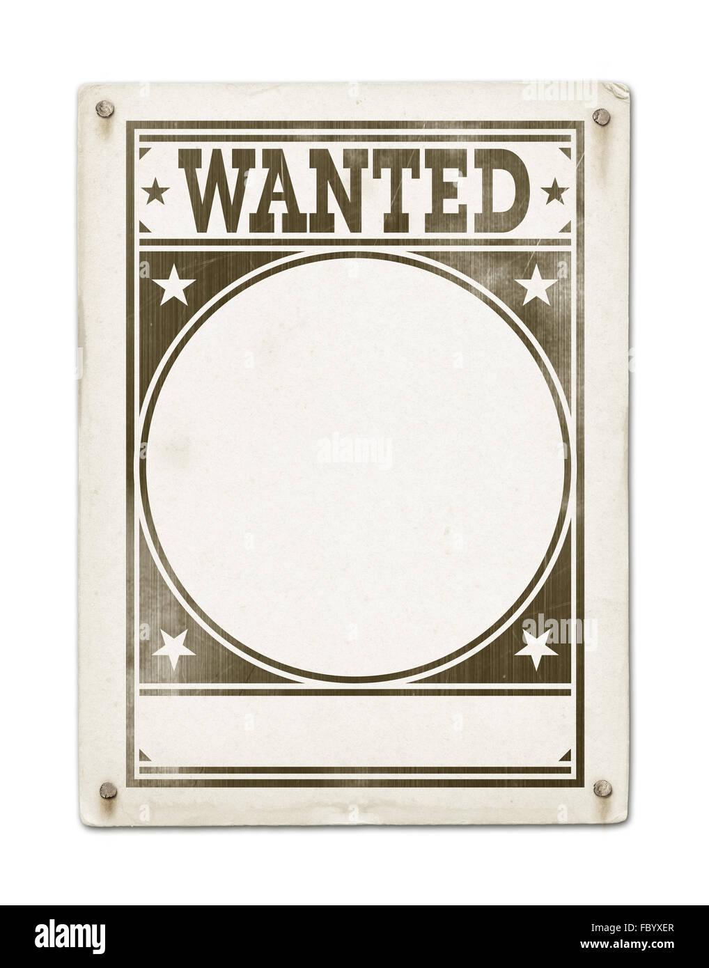 Wanted Poster Template | Wanted Poster Template Stock Photos Wanted Poster Template Stock