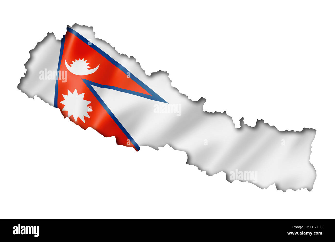 Nepalese flag map Stock Photo: 93426579 - Alamy