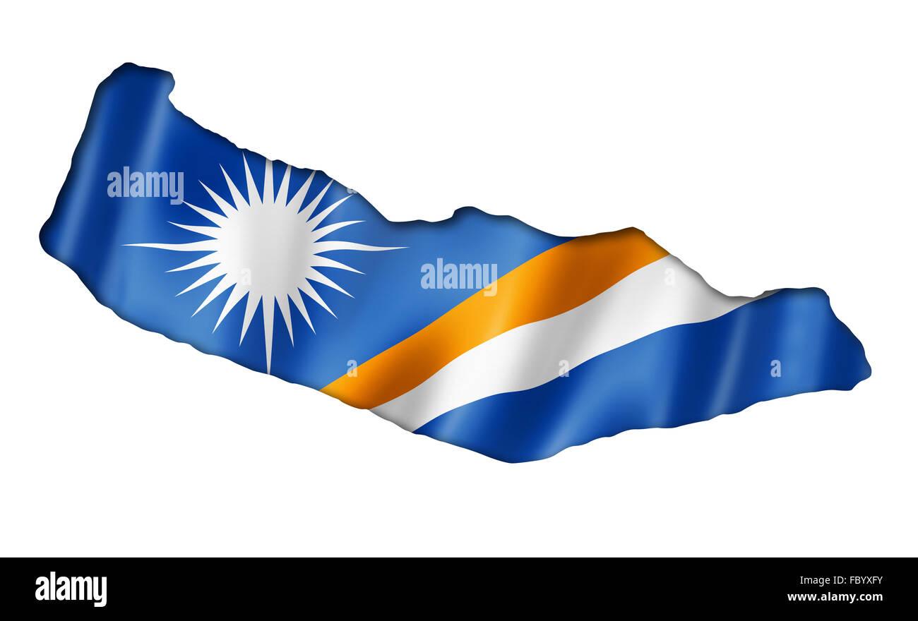 Marshall Islands flag map Stock Photo: 93426591 - Alamy