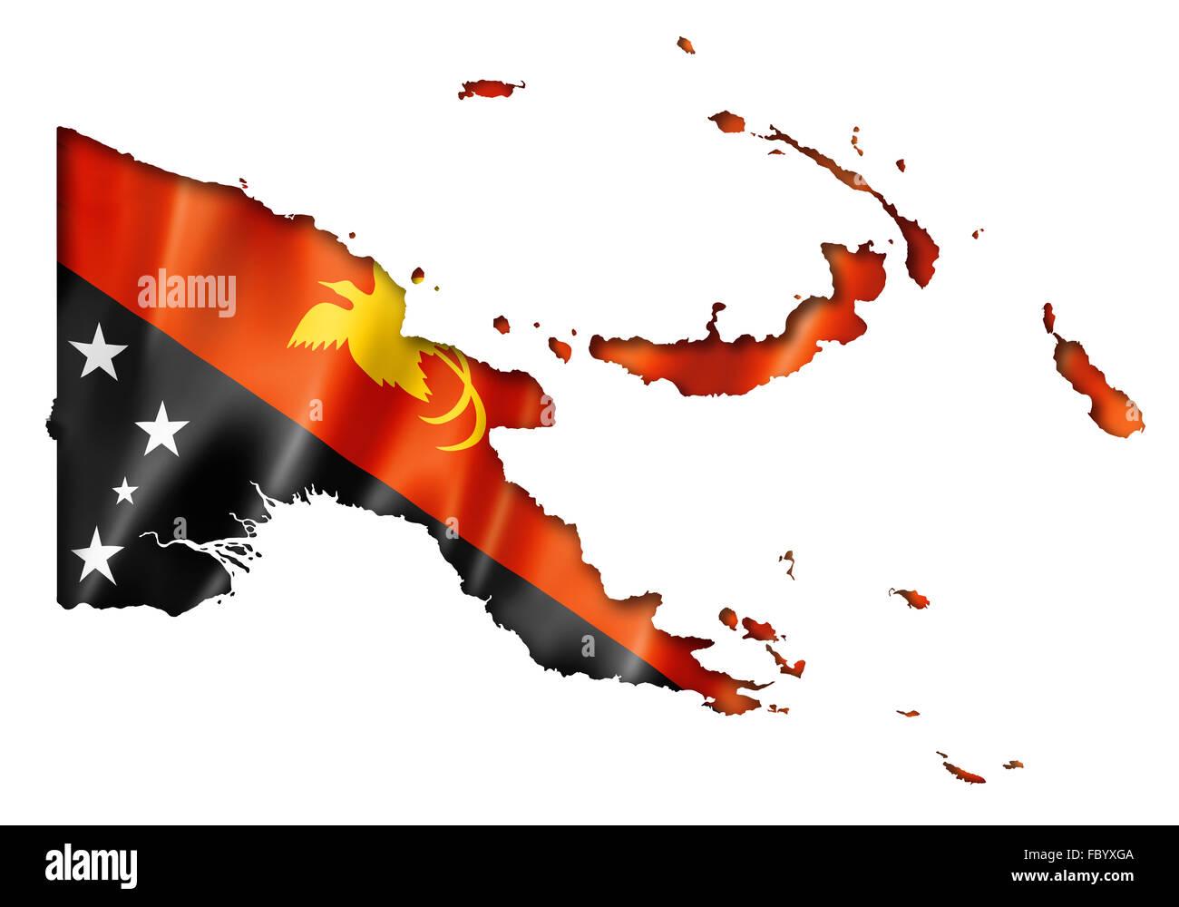 Papua New Guinea flag map Stock Photo: 93426602 - Alamy