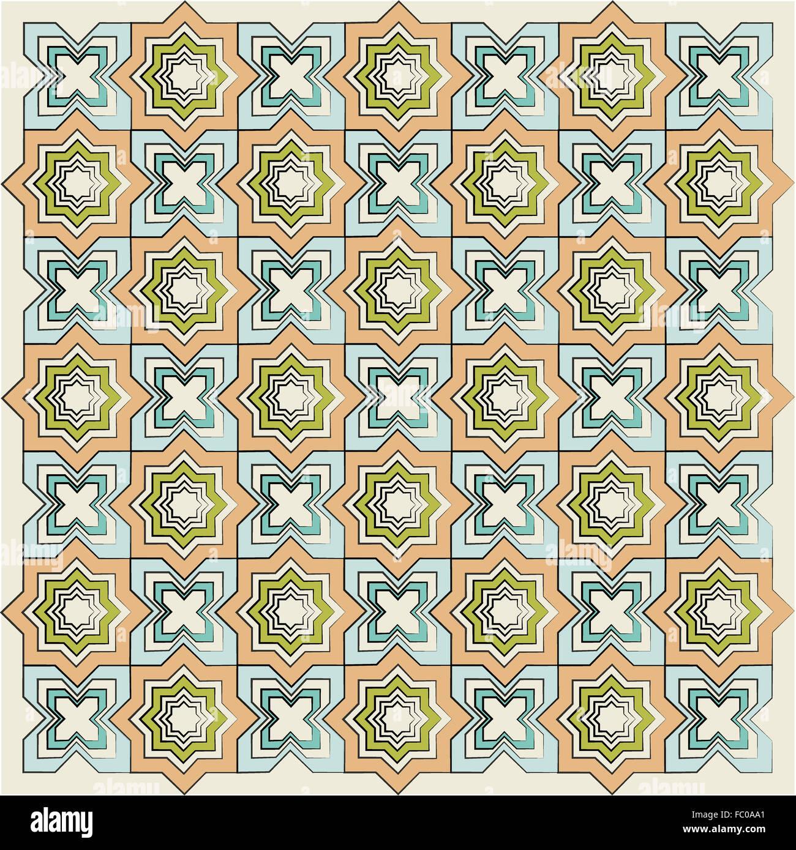 islamic linear texture version - Stock Image