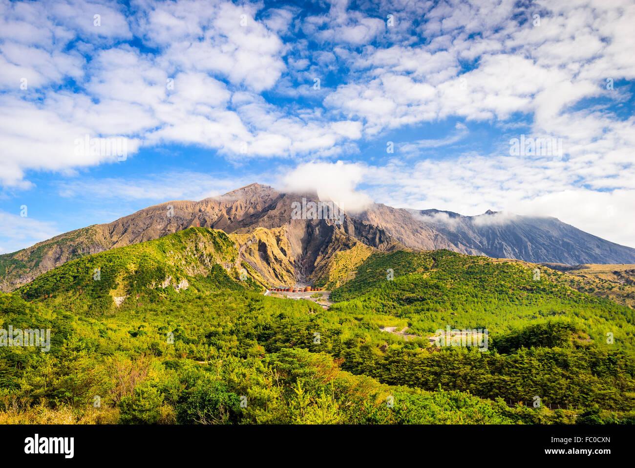 Sakurajima Volcano Crater in Kagoshima, Japan. - Stock Image