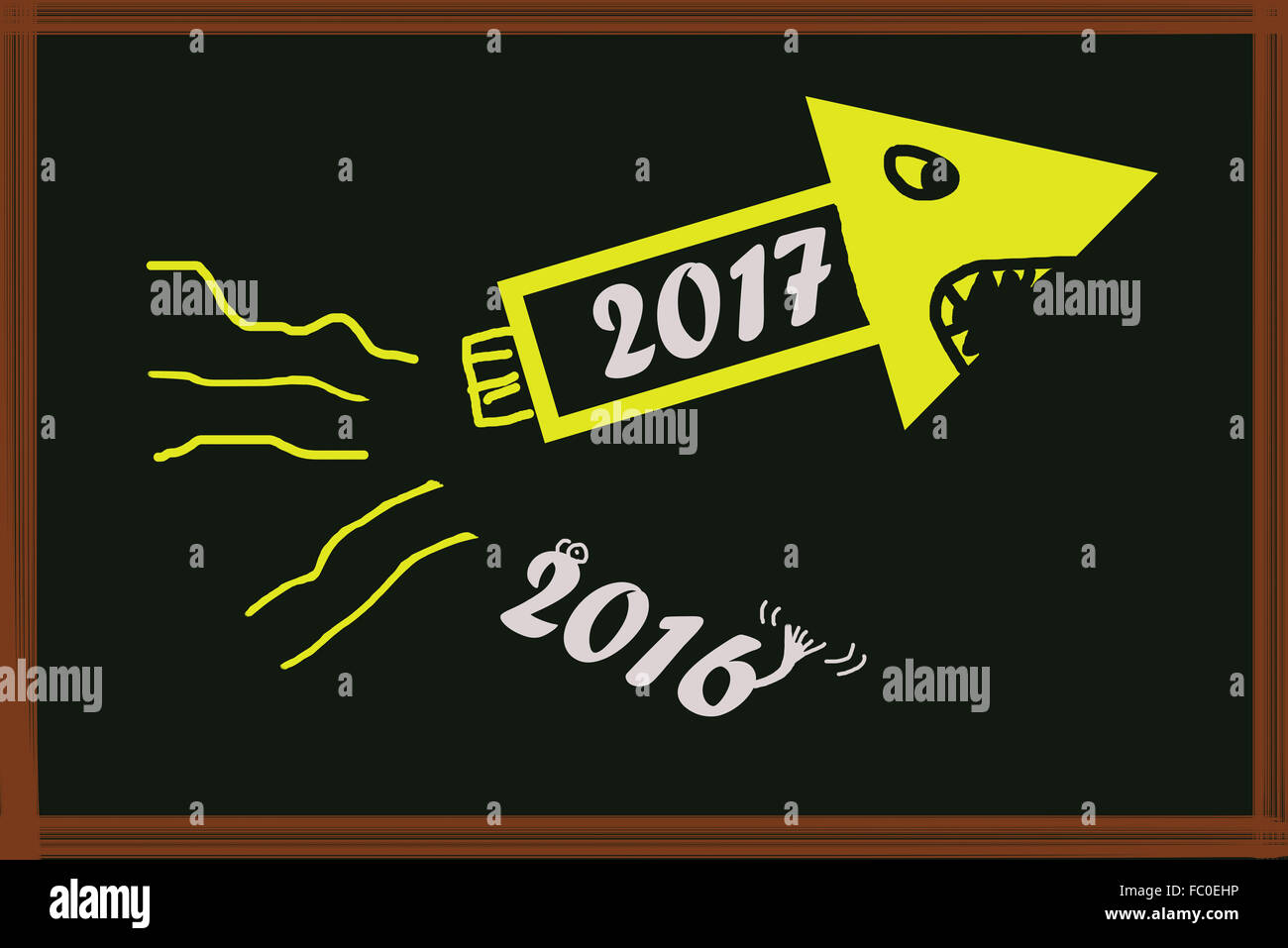 Happy New Year - Stock Image