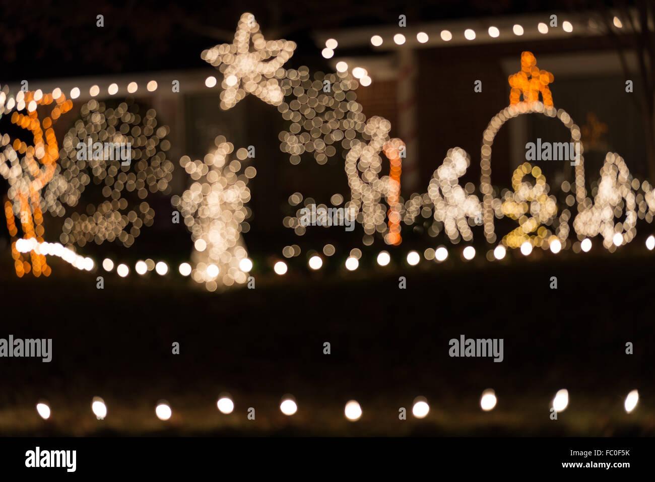 abstract - blur background christmas light, bokeh - Stock Image