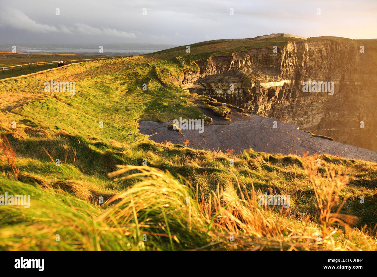 Cliffs of Moher at sunset in Co. Clare, Ireland - Stock Image