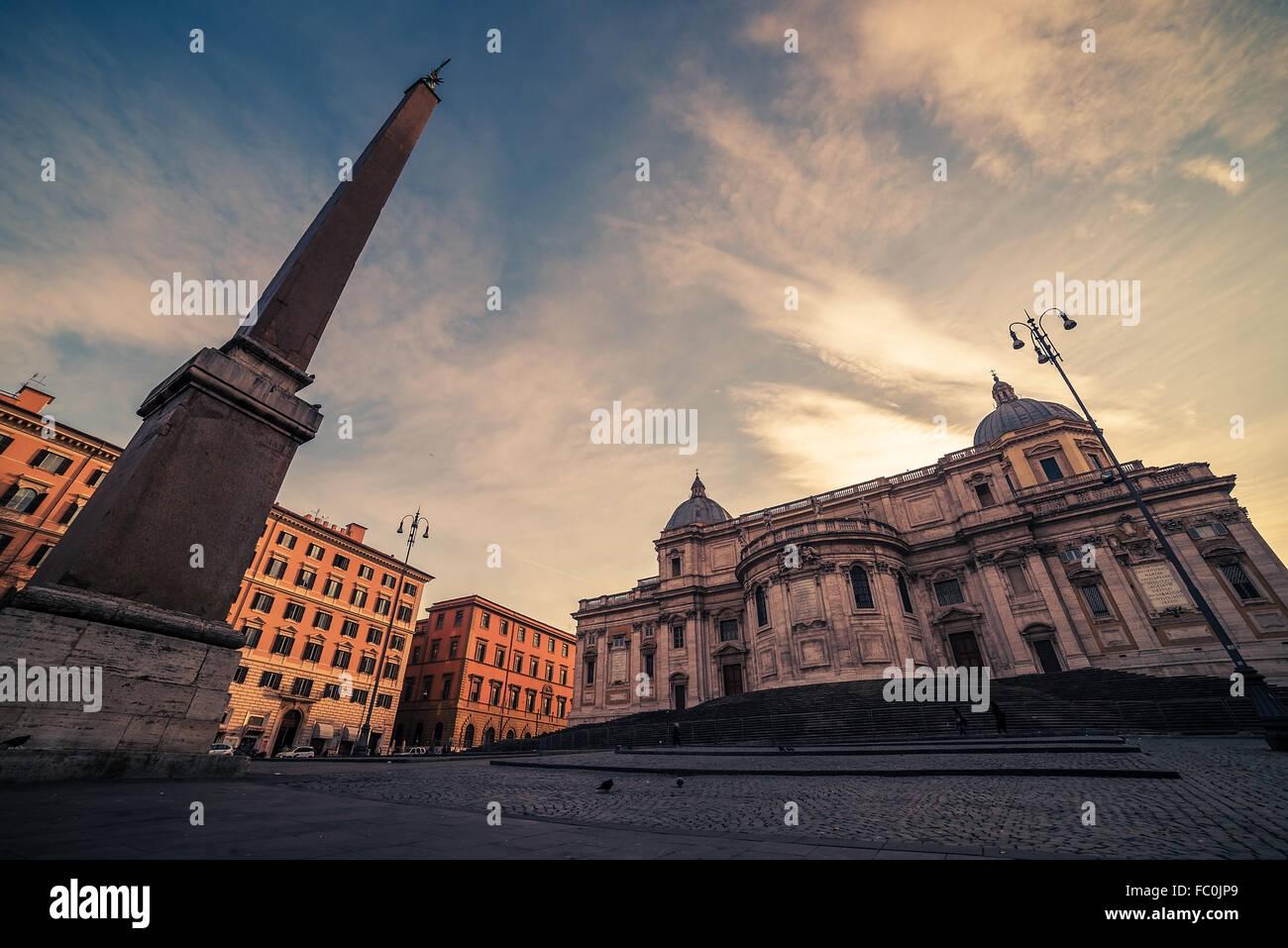 Rome, Italy: Basilica di Santa Maria Maggiore Stock Photo
