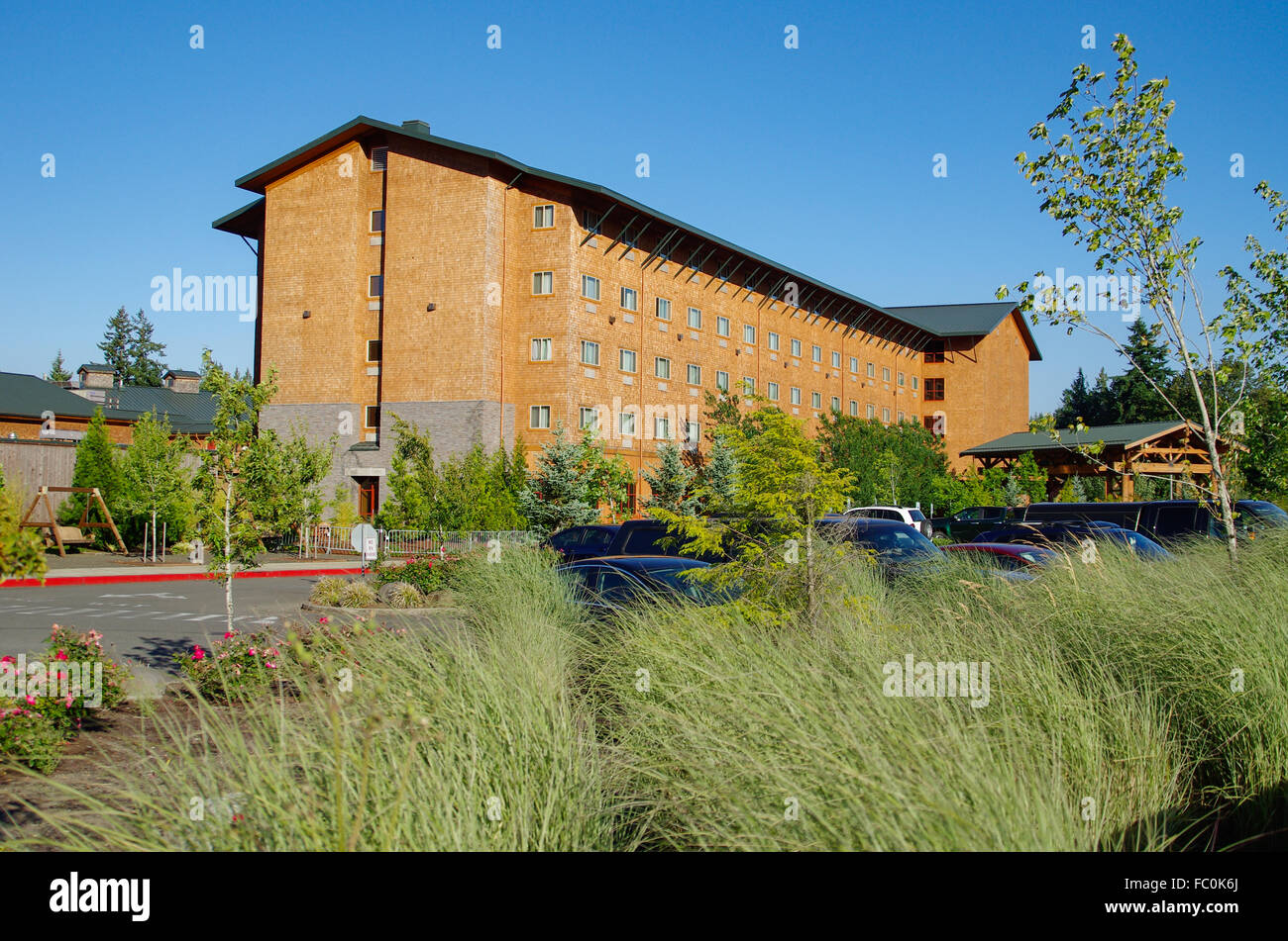 Little Creek Casino and hotel is owned and operated by the Squaxin Island Tribe. Shelton, Washington, USA - Stock Image