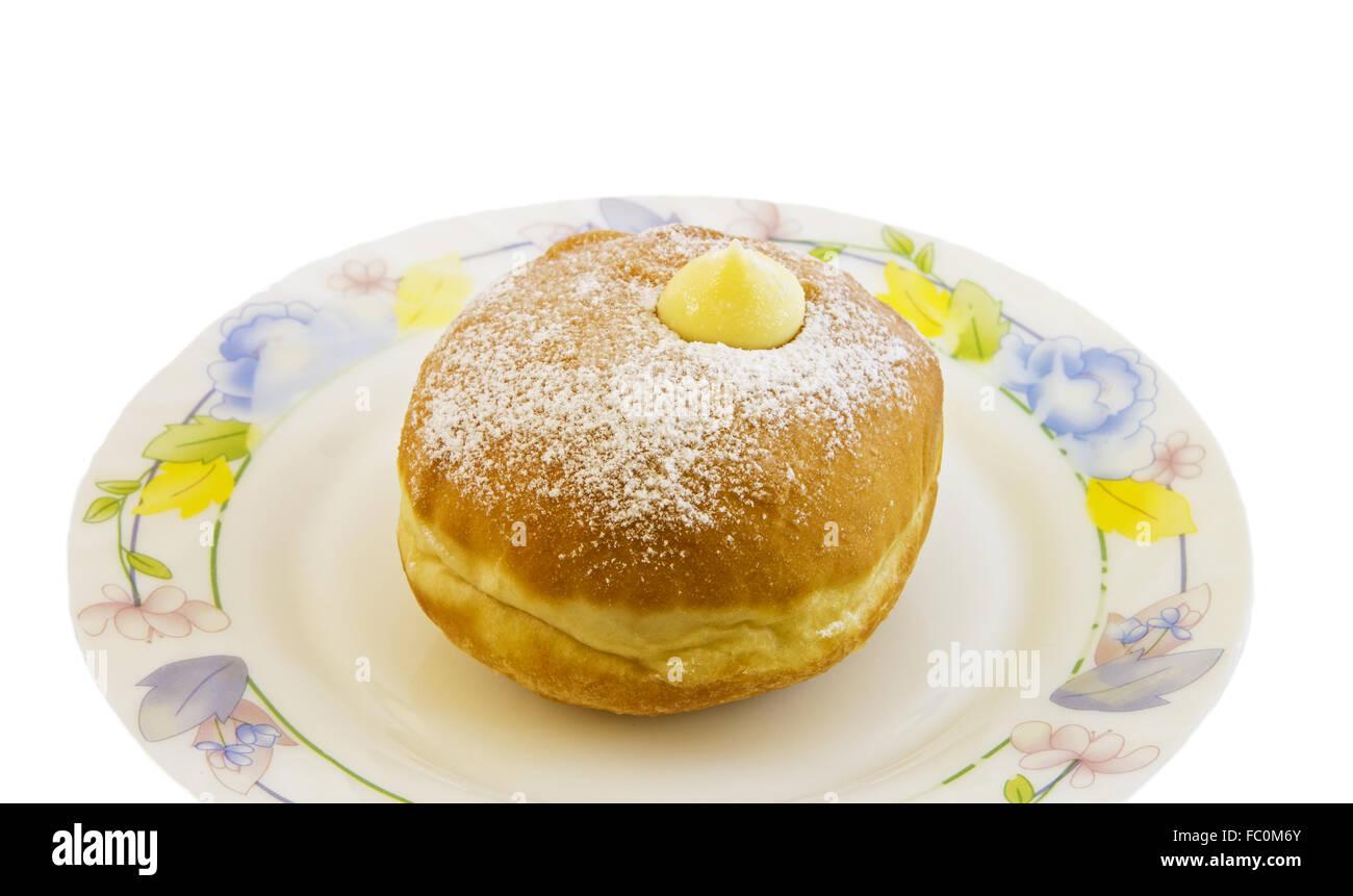 Hanukkah doughnut - Stock Image