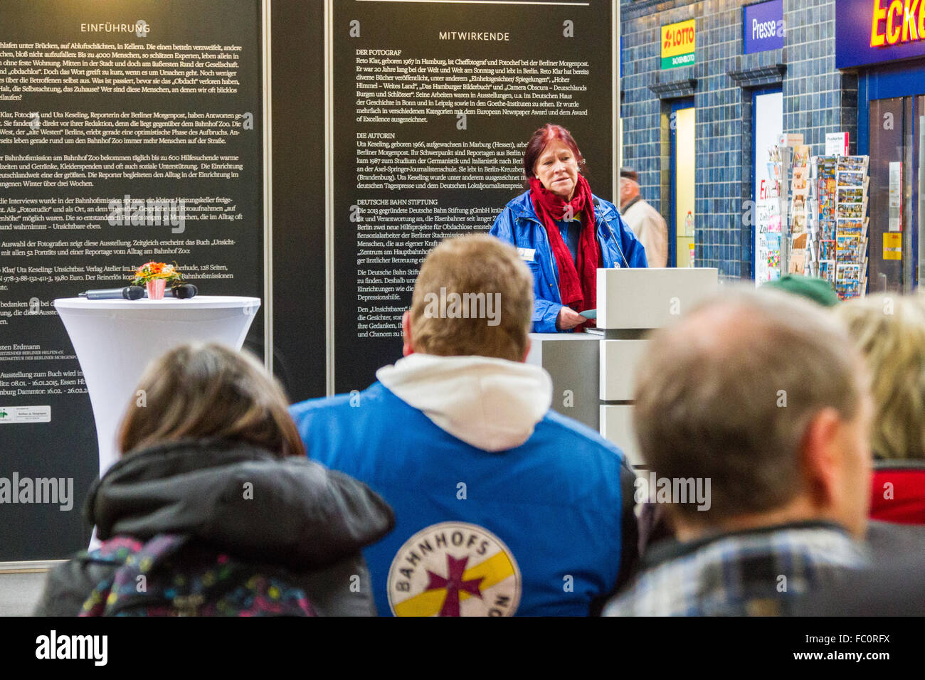 Opening of the exhibition 'The Invisibles' - Stock Image