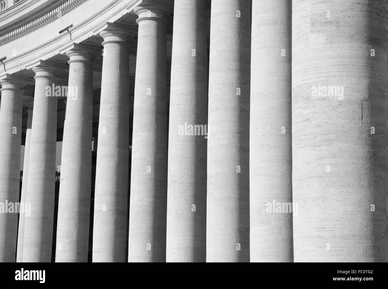 Stone Pillars - Stock Image