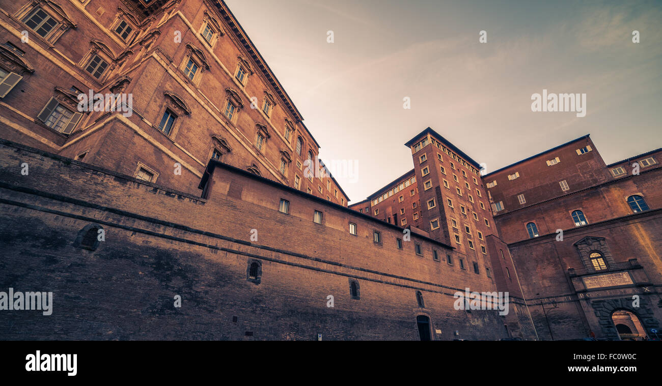 Vatican City and Rome, Italy: inside yard - Stock Image
