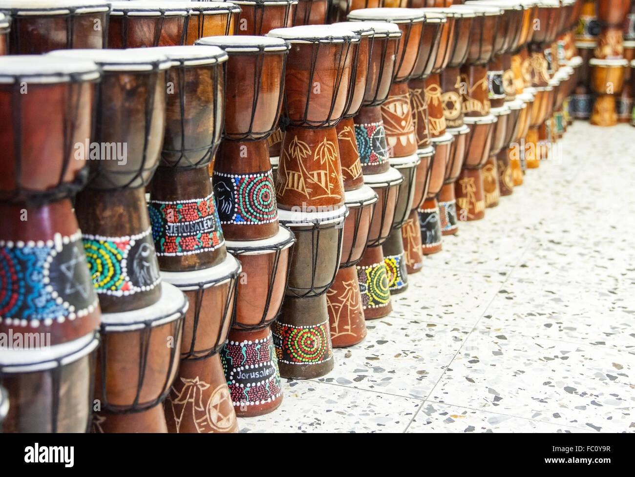 Arabic darbuka market . - Stock Image