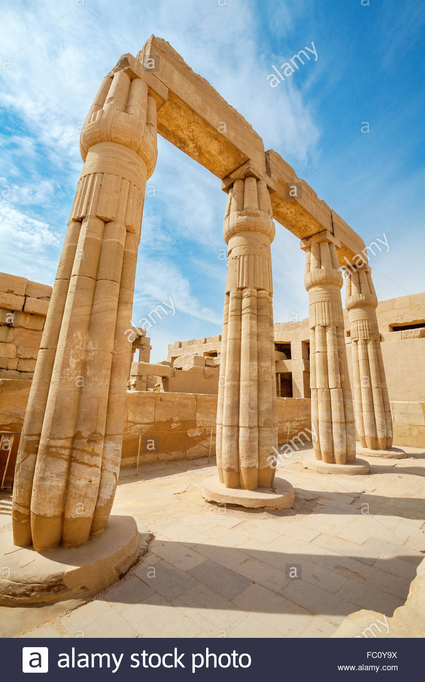Temple of Karnak. Luxor, Egypt - Stock Image