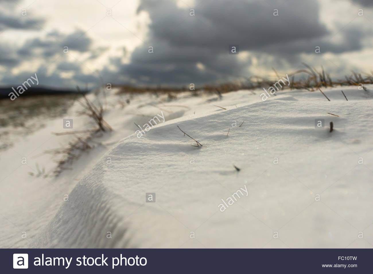 snowdrift - Stock Image