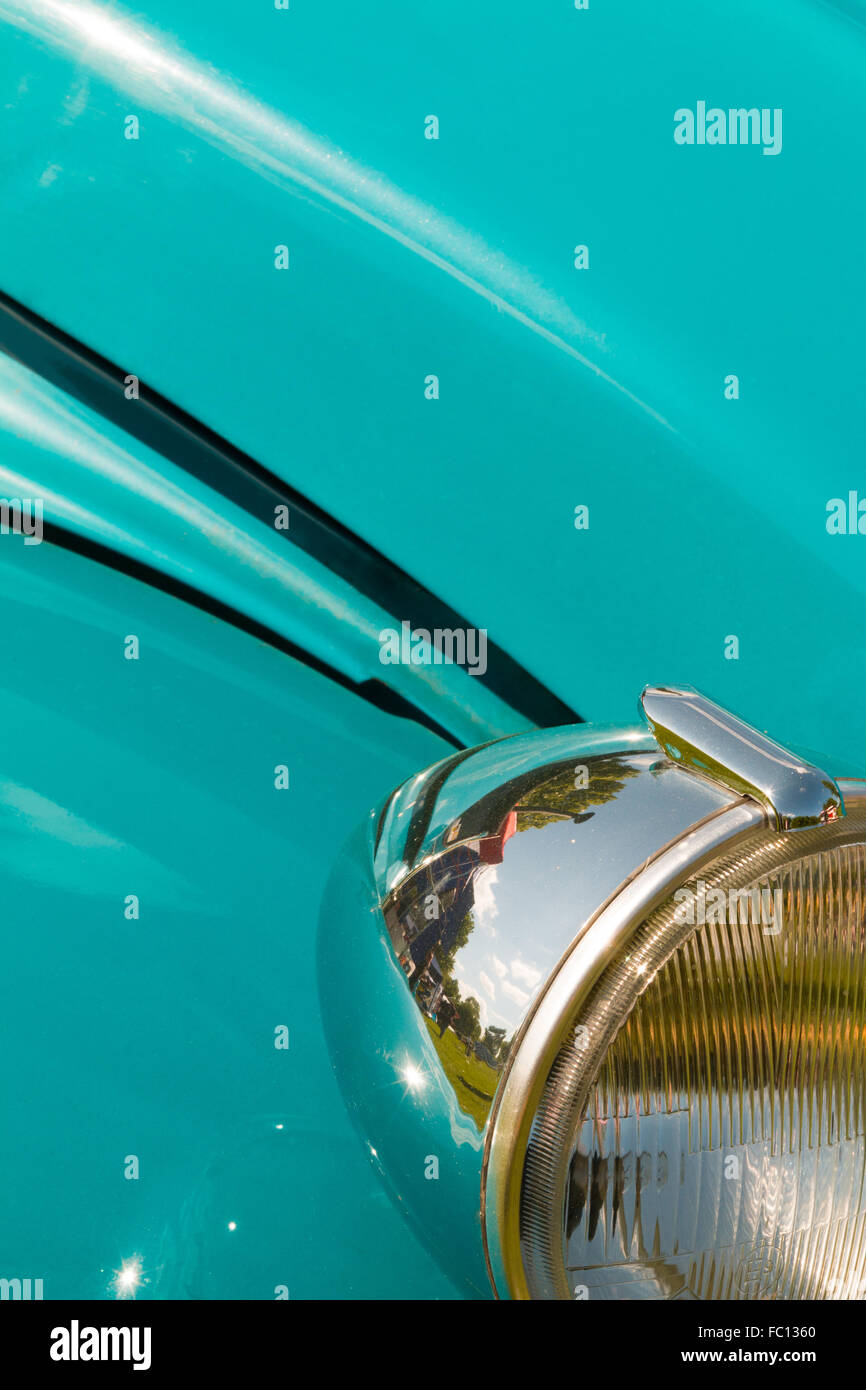 details of an old 2cv - Stock Image