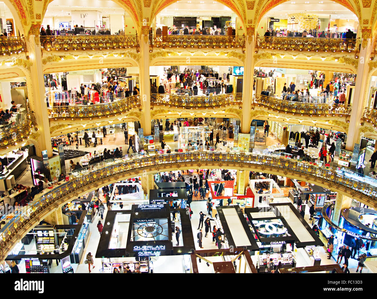 Luxury shopping mall, Paris - Stock Image