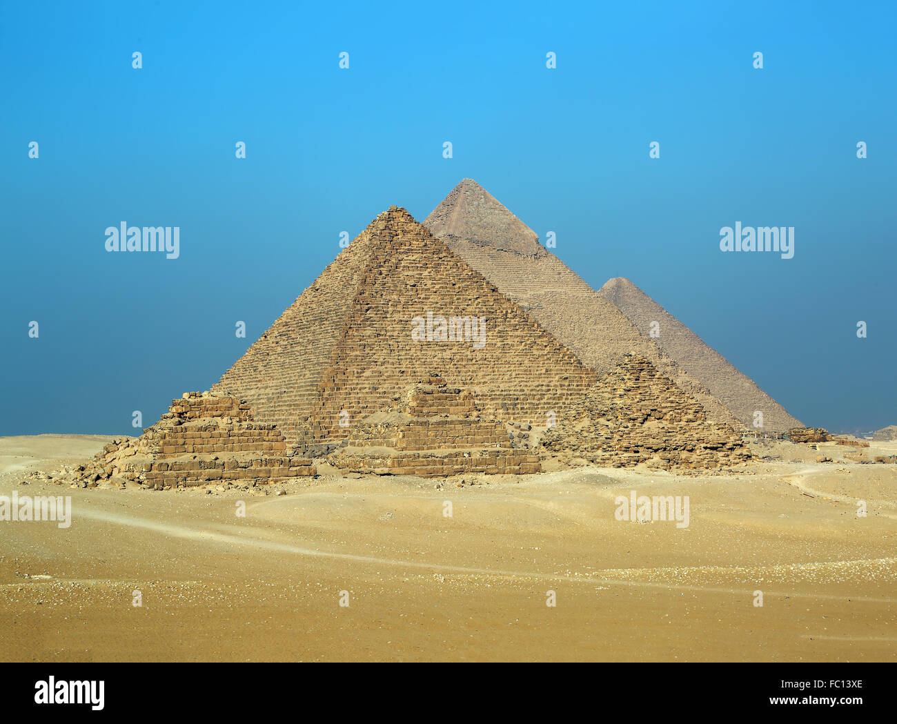 Great pyramids in Egypt - Stock Image