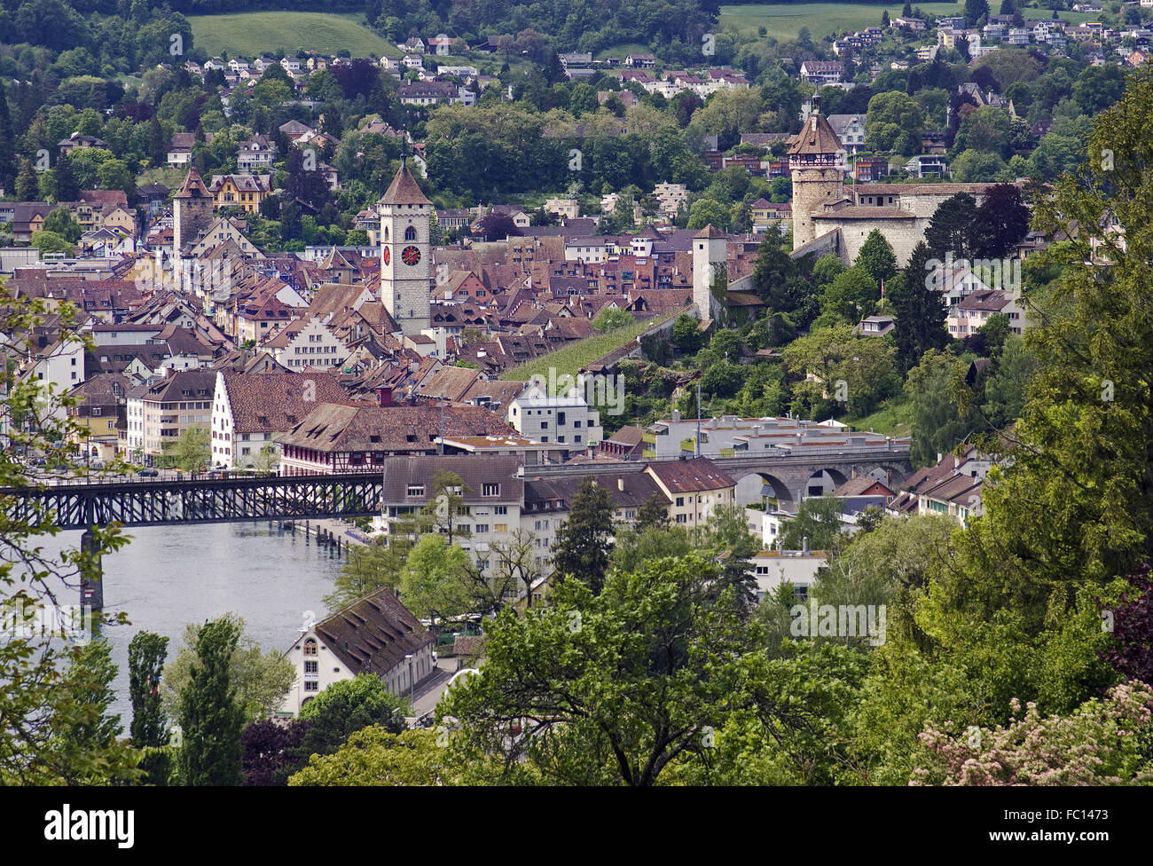 schaffhausen on the rhine swiss Stock Photo