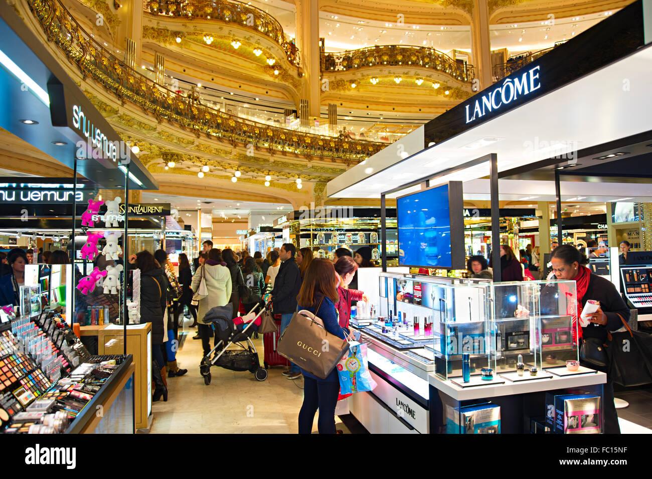 Lafayette luxury mall, Paris - Stock Image