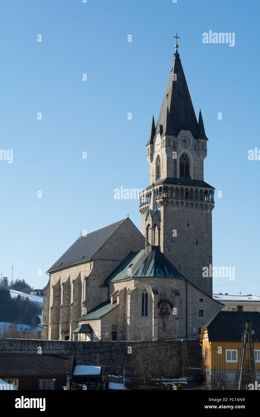 significant late Gothic church in Austria - Stock Image