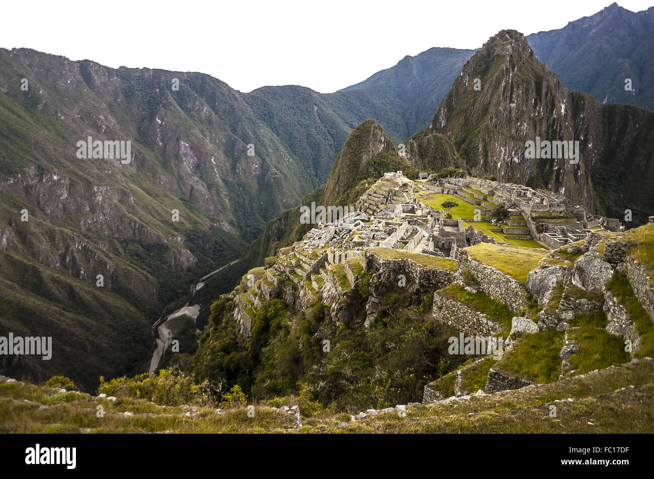 Machu Picchu view in early morning - Stock Image
